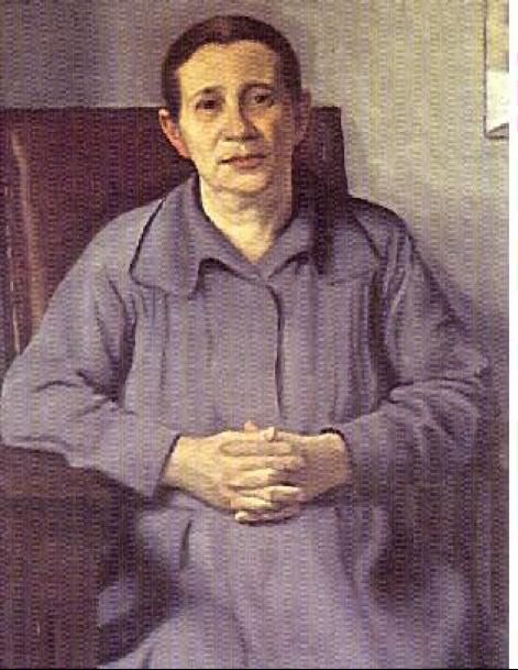 Eladio Vélez. Retrato de la madre. Óleo. 90 x 47 c.m. 1935.