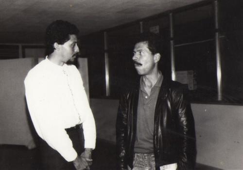 Óscar González y Rafael Patiño. Por: Ángela Ospina C. 1990.
