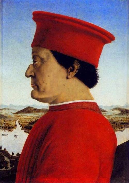 Piero della Francesca (1415-1492)  Díptico del  duque de Urbino (Fragmento) (1472)