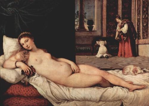 Tiziano (1477/149-1577). Venus de Urbino (1538)