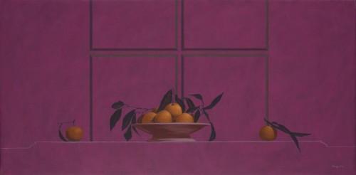 Mandarinas/Óleo sobre tela/60 cms x 120 cms/2009