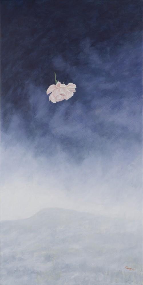 Rosa en la lluvia/Acrílico y óleo sobre tela/2015