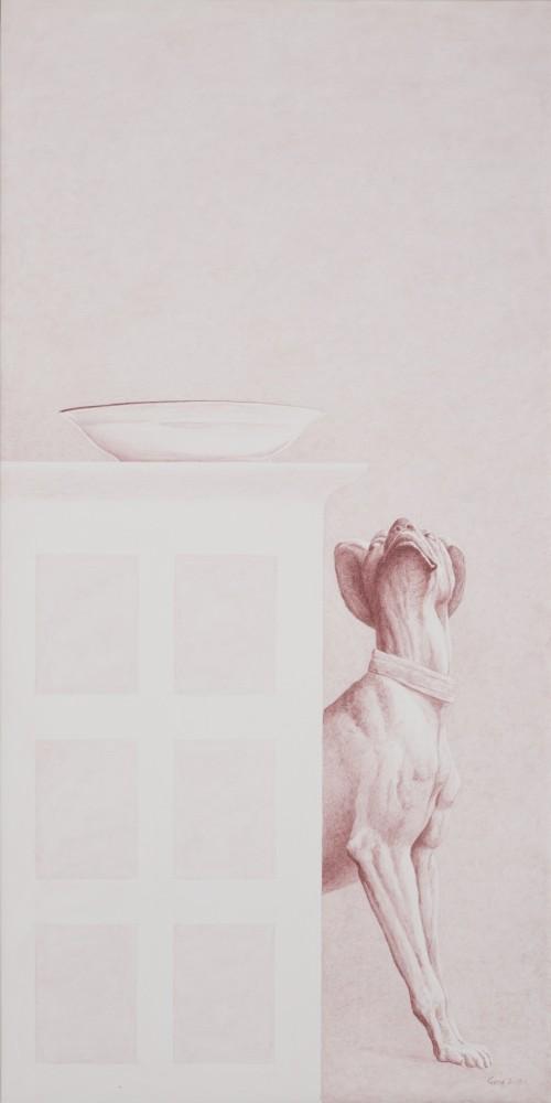 Diógenes/Acrílico sobre tela/120 cms x 60 cms/2014